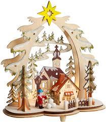 holiday wood village led cutout winter scene christmas decorations