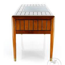 bureau en bois massif bureau bois massif dessus cuir l140cm la pérouse saulaie