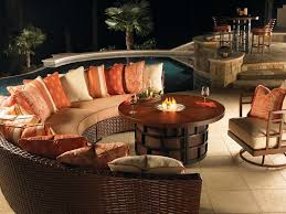 patio furniture set with fire pit table eventual home pinterest