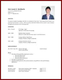Resume Templates For No Job Experience Sample Resume No Work Experience College Student Free Resume