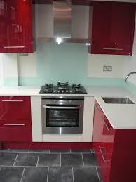 lovely red and white gloss kitchen taste