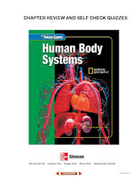 glencoe life science human body systems book d chapter review and
