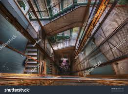 Looking Down Stairs by Looking Down Elevator Shaft Surrounded By Stock Photo 19881367