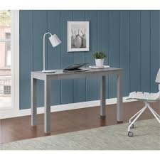ameriwood furniture large parsons desk with 2 drawers gray