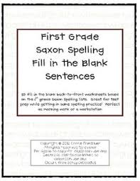 saxon phonics spelling first grade dictation sentences saxon