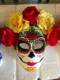 Day Of The Dead Mask Day Of The Dead Mask With Flowers Dia De Los Muertos Sugar Skull