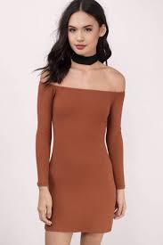 rust bodycon dress shoulder dress bodycon dress 16