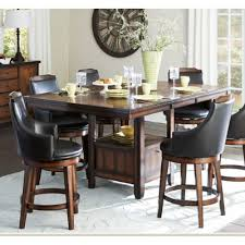 Alcott Hill Edward Counter Height Table  Reviews Wayfair - Countertop dining room sets