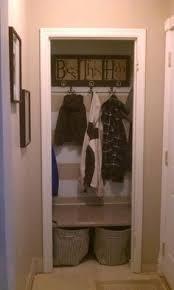 cool idea convert a hall closet into a mini mudroom by removing