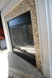 Mosaic Tile Fireplace Surround by Mosaic Tile Fireplace Surround Tiled Fireplace Fireplace