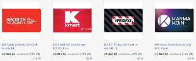 staples kmart lowe s other gift cards discounted may earn 5x