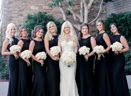 black bridesmaid dresses bridesmaid dresses for winter weddings inside weddings