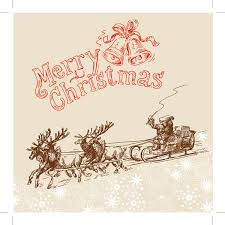line drawing christmas cards vector free vector 4vector