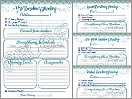 Agendas For Meetings Templates Free by Digital Scrapbooking Made Easy 2014 Yw Presidency Planner