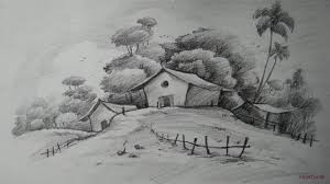 pencil drawing of scenery for kids pencil drawing nature drawing