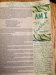 cain and abel journaling the bible
