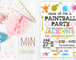 paint ball party etsy