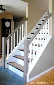 How To Refinish A Banister Remodelaholic Carpet To Wood Stairs