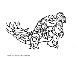 coloring pages groudon