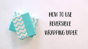 reversible wrapping paper techniques the