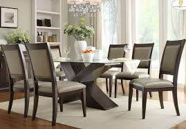 rectangle glass kitchen table homelegance bering rectangular glass dining table w x base beyond