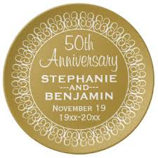 50th anniversary plate personalized custom wedding anniversary porcelain plates