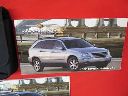 amazon com 2007 chrysler pacifica owners manual chrysler automotive