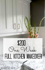 u20ac200 one week full kitchen makeover make do and diy