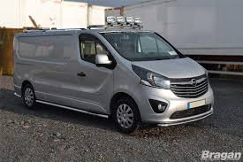 to fit 14 vauxhall opel vivaro lwb steel side bars tapered ends