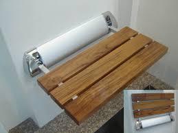 Small Teak Shower Stool Bathroom Decoteak Sojourn Teak Shower Stool For Small Bathroom