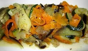 la cuisine de nad recette de tagliatelles de légumes à l ail et fruit de la