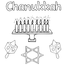 happy chanukah coloring pages getcoloringpages com
