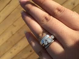 buying engagement ring wedding rings buying an engagement ring 101 trying on engagement