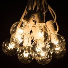 Midwest Chandelier Company Amazon Com 50 Foot G40 Globe Patio String Lights With Clear Bulbs