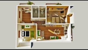 3d plan for two bedroom flat apartment 3 bedroom flat design plan