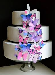 wedding cake topper the original edible butterflies cake u0026 cupcake