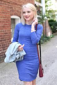 blue knit dress from banana republic poor little it