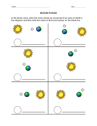 blank moon phases worksheet moon phases pinterest moon