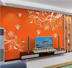 wall stickers murals wall decals murals orange simple classic themes artfire