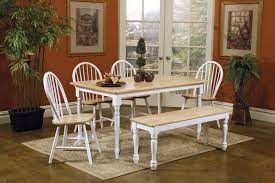 Bench And Chair Dining Sets Plain Fine Kitchen Table With Bench And Chairs White Painted Table