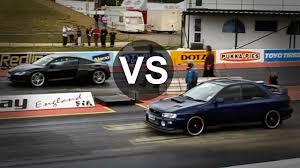 bmw vs audi race subaru impreza wrx sti vs audi r8 bmw m3 e46 drag race