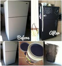 diy home project paint your fridge using chalkboard paint find