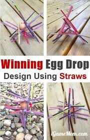 Challenge Physics Winning Egg Drop Project Design Ideas With Straws Egg Drop