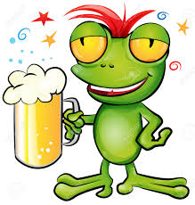 beer cartoon frog cartoon with schooner beer royalty free cliparts vectors