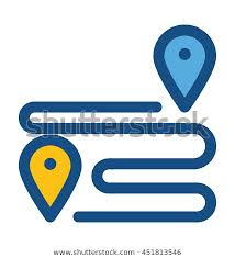 travel distance images Travel distance vector icon stock vector royalty free 451813546 jpg