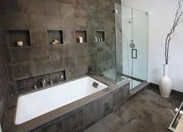 Natural Stone Bathroom Tile Natural Stone Tiles In The Bathroom With Corner Tub Using