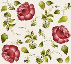 seamless background from a flowers ornament fashionable modern