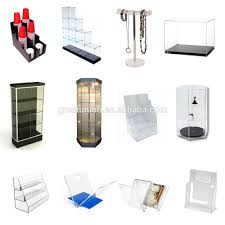 gu a0647 acrylic clear nail polish table display rotatable rack