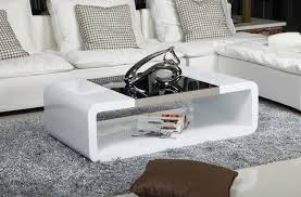 Black Glass Coffee Table Captivating Contemporary Led High Gloss Coffee Table Genoa In