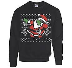 santa sweater amazon com dabbing santa sweatshirt s black